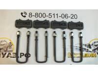 Комплект для лифта (рессора/мост) 30 мм сталь на УАЗ 469 / 2206