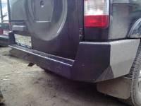 Задний усиленный бампер на УАЗ Патриот Рысь
